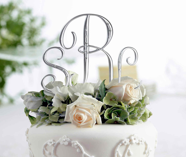 Lillian Rose Silver Rhinestone Monogram - Small A