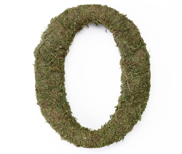 Lillian Rose Large Moss Monogram Letter - 15 inch, O