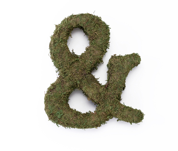 Lillian Rose Large Moss Monogram Letter - 12 inch, Ampersand