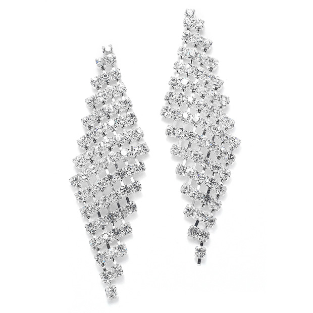 Mariell Classic Wholesale Rhinestone Earrings