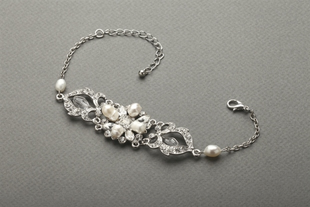 Mariell Top-Selling Freshwater Pearl & Crystal Wedding Bracelet