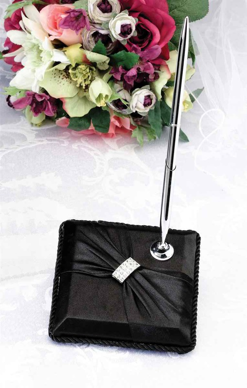 Lillian Rose Satin Sash Pen set-Black