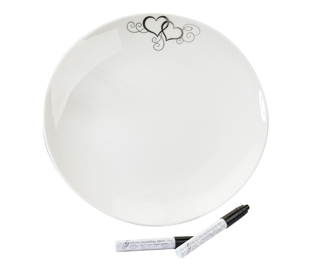 Lillian Rose Round Signature Platter with 2 Pens