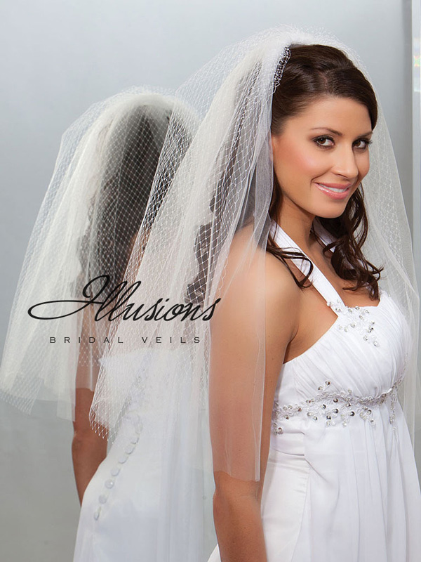 Illusions Bridal Cut Edge Veil QR7-252-CT