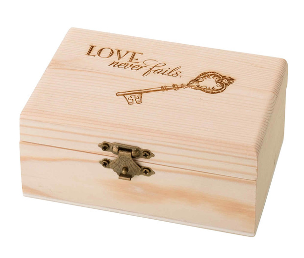 Lillian Rose Pine Ring Bearer Box - Christian Verse