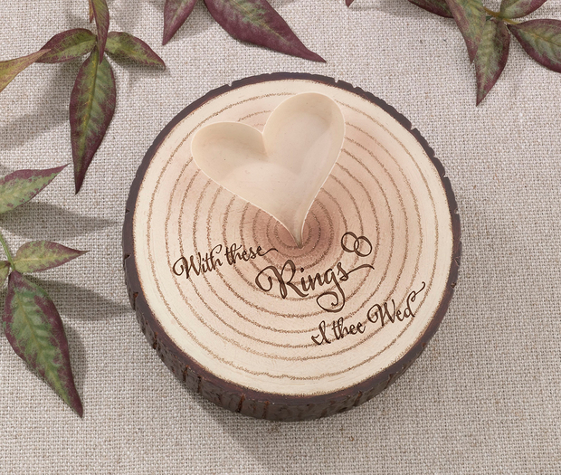 Lillian Rose Tree Trunk Ring Holder - I Thee Wed