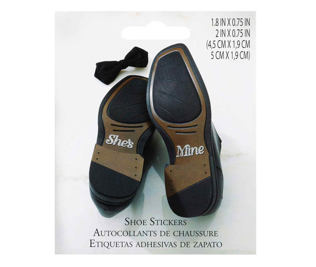 Lillian Rose She's Mine Shoe Stickers