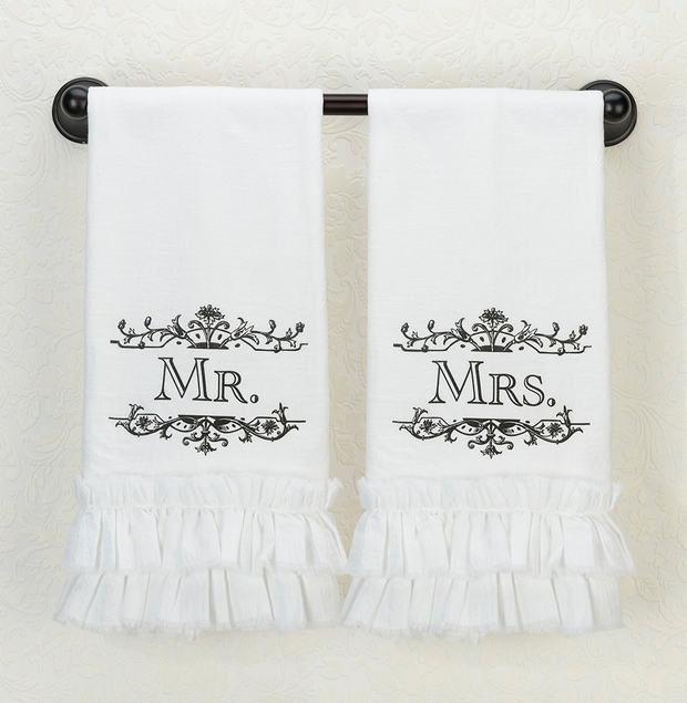 Lillian Rose Mrs. Kitchen Towel - White