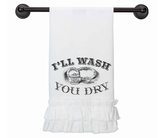 Lillian Rose I'll Wash, You Dry Kitchen Towel