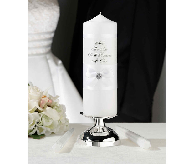 Lillian Rose White Lace Candle Set