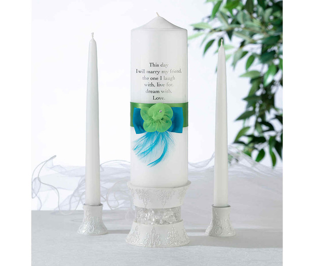 Lillian Rose Blue & Green Candle Set