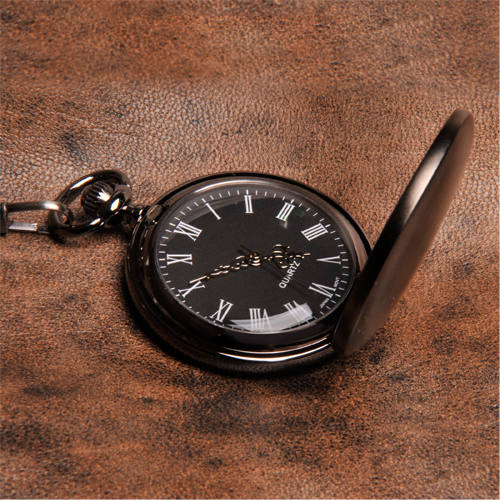 JDS Personalized Gunmetal Pocket Watch