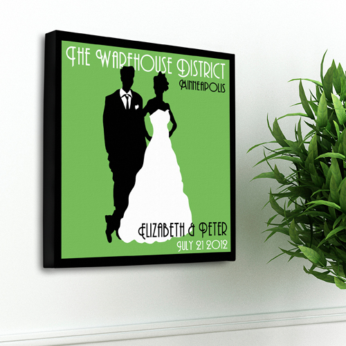 JDS Personalized Couples Studio Canvas