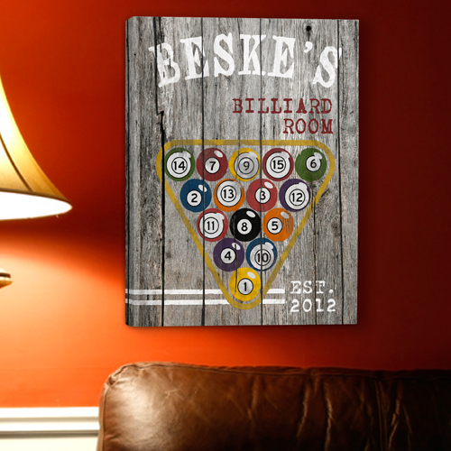 JDS Personalized Man Cave Canvas Prints