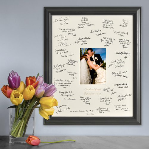 JDS Personalized Laser Engraved Wedding Wishes Signature Frame