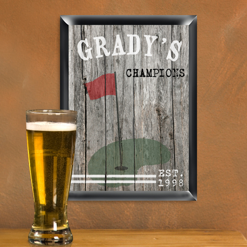 JDS Personalized Traditional Sports Man Cave Pub Signs