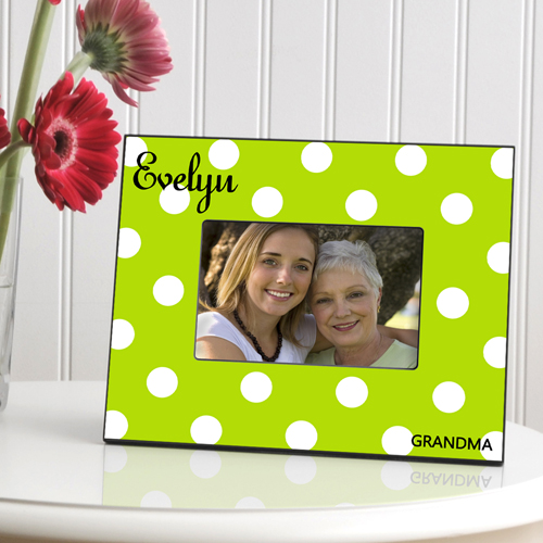 JDS Personalized Polka Dots: Picture Frame