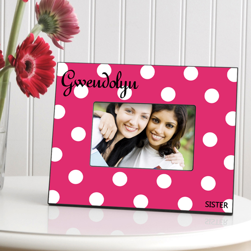 JDS Personalized Polka Dots Picture Frame