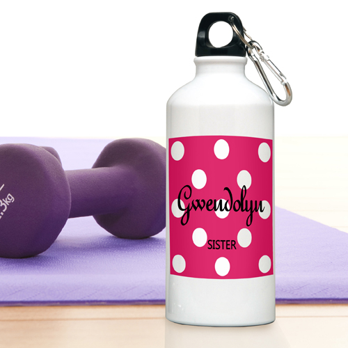 JDS Personalized Polka Dots: Water Bottle