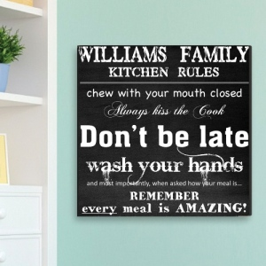 JDS Customized Canvas Print: Family Kitchen Rules