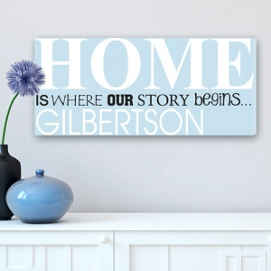 JDS Personalized Canvas Print: Where Our Story Begins