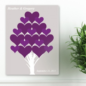 JDS Personalized Canvas: Forever Hearts