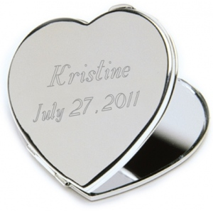 JDS Personalized Compact Mirror: Heart