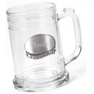 JDS Personalized Mug with Pewter Emblem: 16 oz.