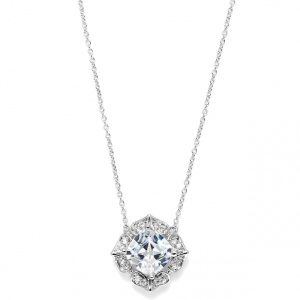 Mariell Lavish Cushion Cut Cubic Zirconia Wedding Pendant