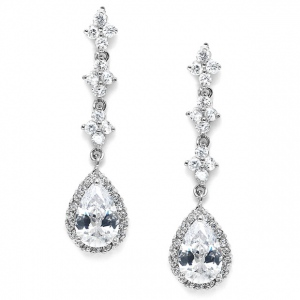 Mariell Bridal Or Prom Cubic Zirconia Dangle Earrings