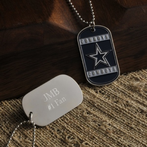 JDS Personalized True Colors NFL Dog Tag
