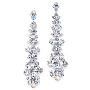 Mariell Linear Earrings with Cascading Bubbles