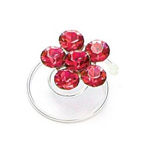 Mariell Prom Or Bridesmaid Crystal Flower Hair Spirals: Siam Red