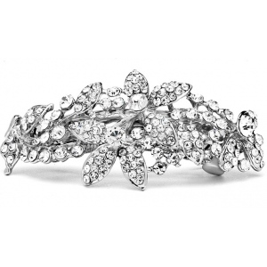 Mariell Shimmering Crystal Abstract Style Bridal Or Prom Hair Barrette