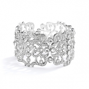 Mariell Grecian Style Couture Wedding Or Prom Crystal Cuff Bracelet