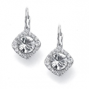 Mariell Tailored Solitaire Drop Earrings