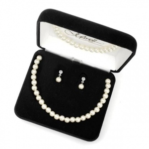 Mariell 3-Piece Pearl Boxed Wedding Jewelry