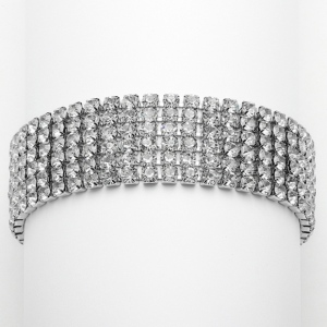 Mariell Petite Size 6-Row Rhinestone Prom Or Homecoming Bracelet