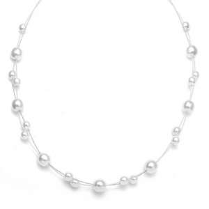 Mariell Floating Pearl Flower Girl Necklace