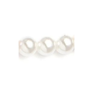 Mariell Single Strand 4mm Pearl Wedding Necklace: White, Silver, 16""