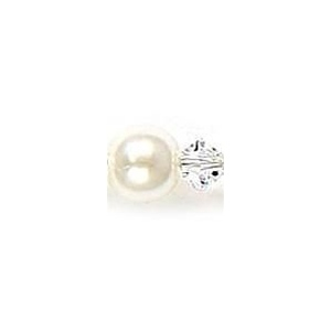 Mariell Classic Pearl & Crystal Drop Bridal or Bridesmaids Earrings: Ivory/Clear, Pierced