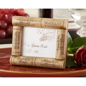 Vive la Vin, Cork Place Card, Photo Frame