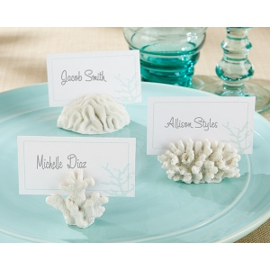 Seven Seas, Coral Place Card, Photo Holder: Set of 6