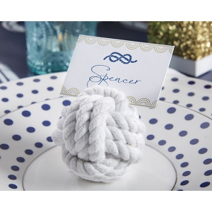 Nautical Cotton Rope Place Card Holder: Set of 6
