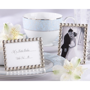 Silver Pearls, Mini Photo Frame