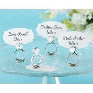 With This Ring, Jeweled Place Card, Photo Holder: Set of 6