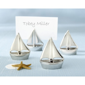 Shining Sails, Silver Place Card Holders: Set of 4