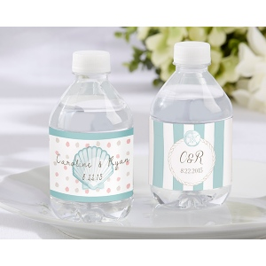Personalized Water Bottle Labels: Beach Tides