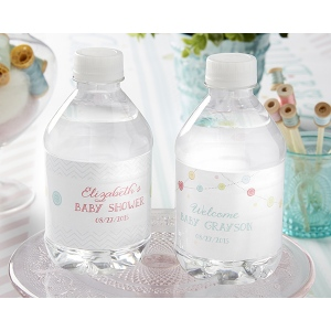 Kate's, Cute as a Button, Personalized Water Labels