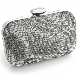 Mariell Lacey Evening Minaudiere with Silver Shimmer